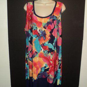 NEW Avenue Dress Size 18/20 Long Navy & Floral